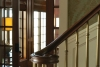 Stairwell design, wainscotting