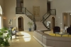 double staircase, open floor plan