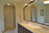 arched openings in master bath