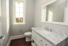 Guest suite bathroom at new home for sale in Pittsford