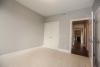 guest room, carpet, gray paint, closet door