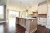 campden ranch neutral kitchen gray, white beige, open to dining room