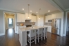 Counter height stools at this new kitchen in Pittsford, new home for sale, model home at Hawkstone