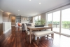dining room, kitchen, open floor plan, sliding glass doors