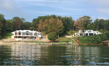 house on the bank of a lake
