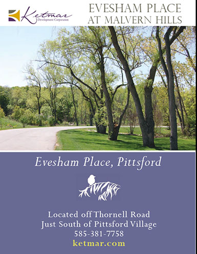 Evesham Brochure cover image of woods